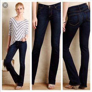Anthropologie Paige Manhattan Boot Cut Dark Jeans